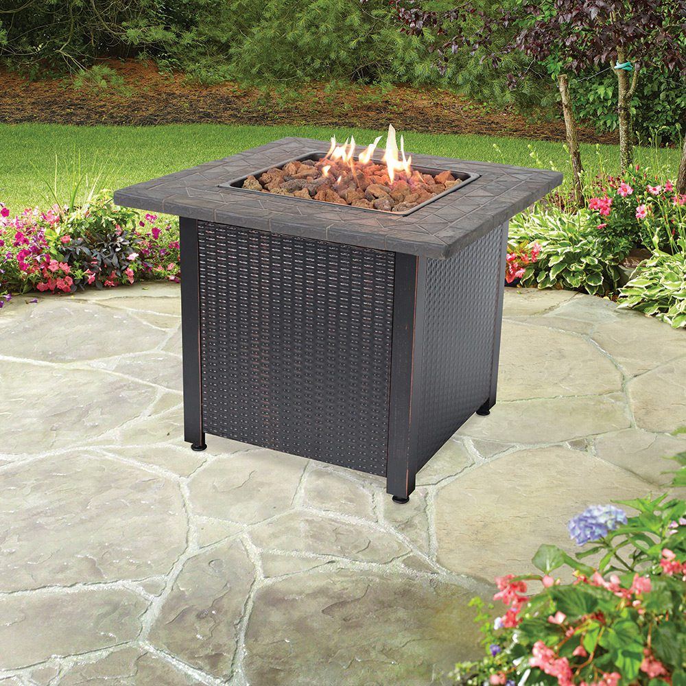 LP Gas Outdoor Fire Pit with Resin Mantel - Endless Summer