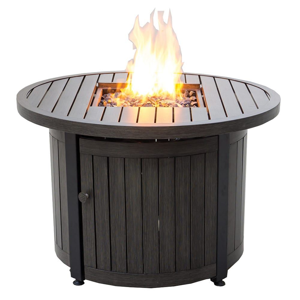 Lp Gas Outdoor Fire Pit With Aluminum Mantel Endless Summer