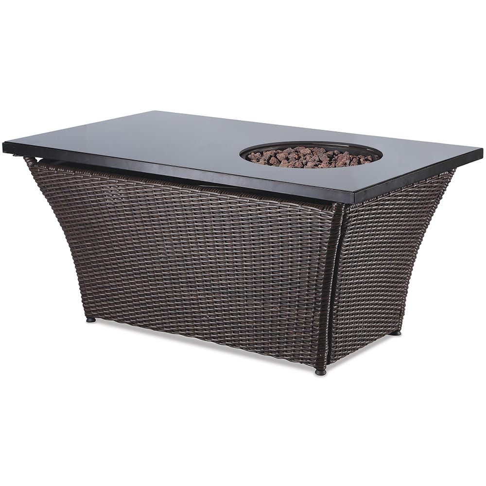 Lp Gas Outdoor Fire Table With Glass Mantel Endless Summer