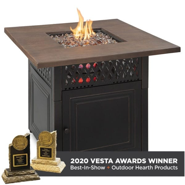 """""""Donovan"""" LP Gas Outdoor Fire Pit with DualHeat Technology"""