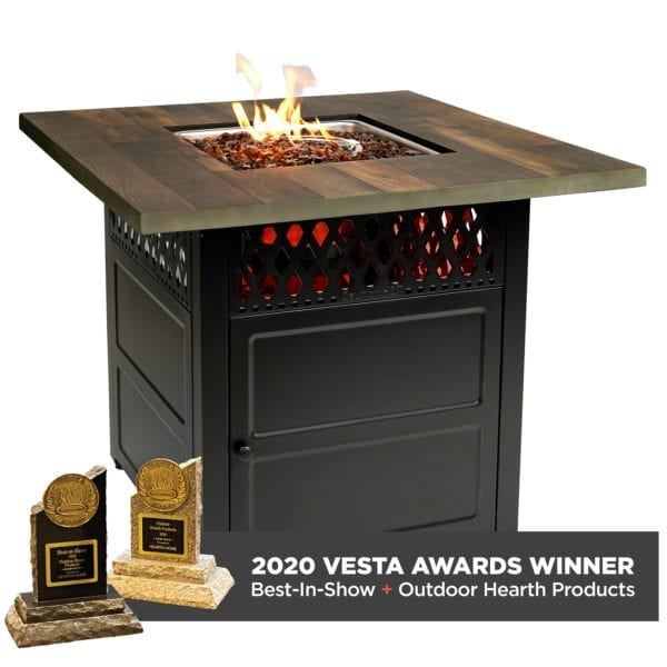 """""""Harris"""" LP Gas Outdoor Fire Pit with DualHeat Technology"""